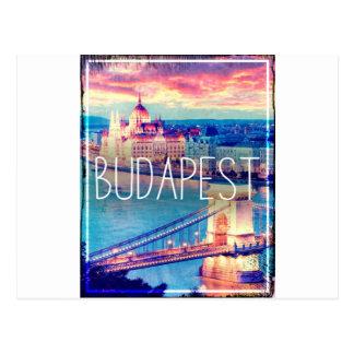 Carte Postale Budapest, vintage affiche