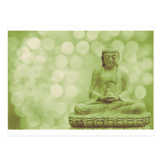 Carte Postale buddha light (green light)