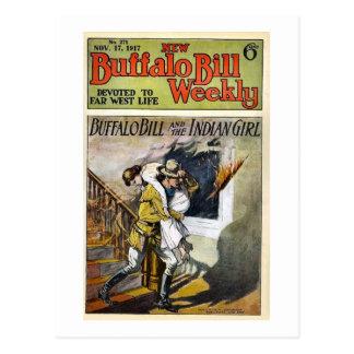 Carte Postale Buffalo Bill 1917 hebdomadaires consacrés à la vie