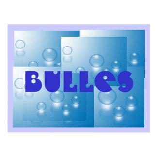 Carte Postale bulles