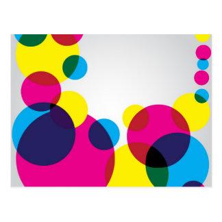 Carte Postale Bulles de couleur