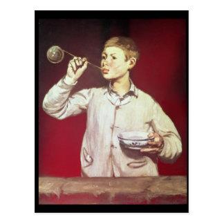 Carte Postale Bulles de soufflement de garçon, 1867-69
