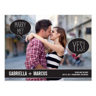 Carte Postale Bulles d'entretien épousant des économies la date