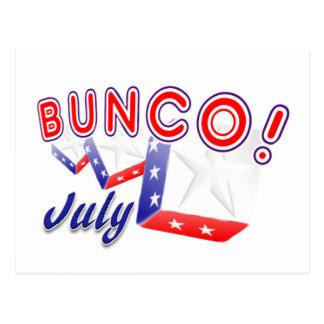 Carte Postale bunco juillet