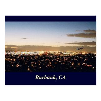 Carte Postale Burbank Nightscape, Burbank, CA