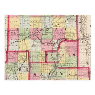 Carte Postale Bureau, Putnam, rigide, comtés de Marshall