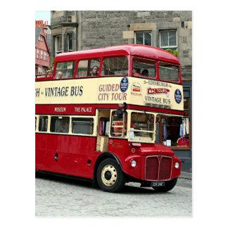 Carte Postale Bus touristique vintage d'Edimbourg, Ecosse, R-U