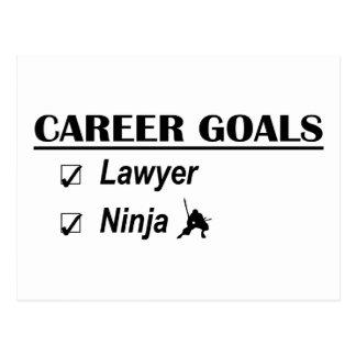 Carte Postale Buts de carrière de Ninja d'avocat