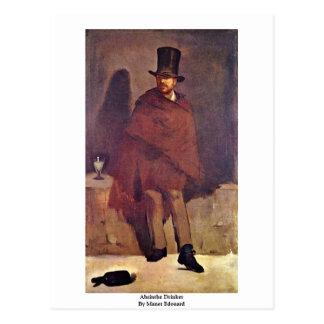 Carte Postale Buveur d'absinthe par Manet Edouard