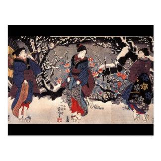 Carte Postale C. de peinture japonais 1800's