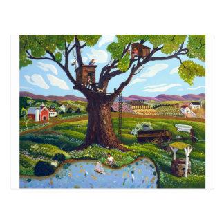 Carte Postale Cabane dans un arbre