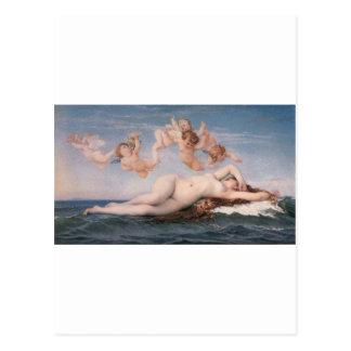 Carte Postale Cabanel la naissance de Vénus 1863