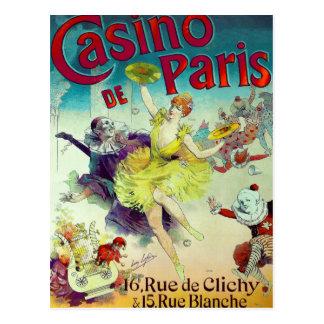 Carte Postale Cabaret français Paris d'illustration vintage de