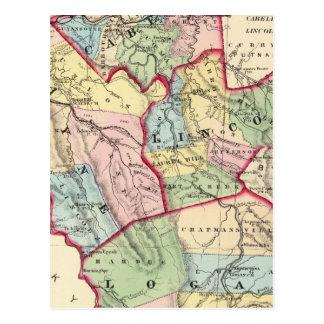 Carte Postale Cabell, Wayne, Lincoln, comtés de Logan