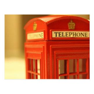 Carte Postale Cabine de téléphone rouge