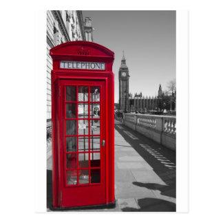 Carte Postale Cabine téléphonique rouge de Big Ben