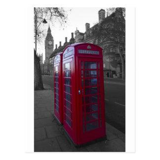 Carte Postale Cabine téléphonique rouge de Londres