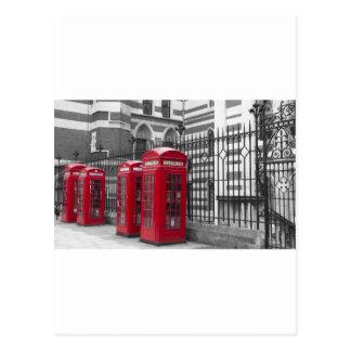 Carte Postale Cabines téléphoniques rouges