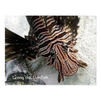 Carte Postale Cactus Voyager - Lenny le LionFish