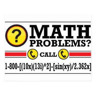 Carte Postale Cadeau d'humour de cours particuliers de maths