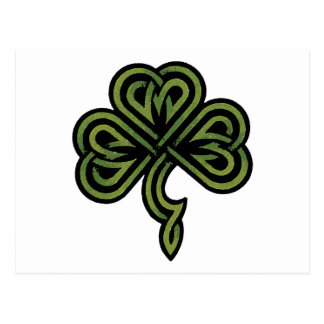Carte Postale Cadeau irlandais de shamrock