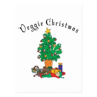 Carte Postale Cadeau végétarien de Chirstmas