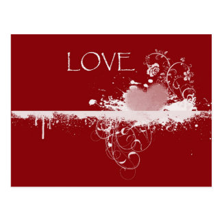 Carte Postale Cadeaux blancs rouges de coeur de Saint-Valentin