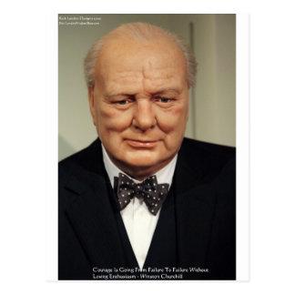 Carte Postale Cadeaux de citation de sagesse d'échec de Winston