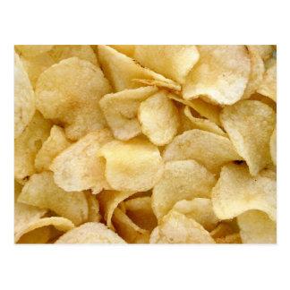 Carte Postale Cadeaux de nourriture industrielle de pommes chips