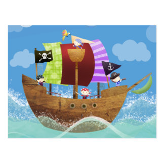 Carte Postale cadeaux de pirates oh