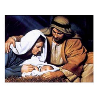 Carte Postale Cadeaux de scène de nativité pour Noël
