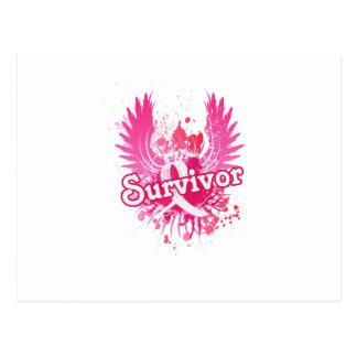 Carte Postale Cadeaux de survivant de conscience de cancer du