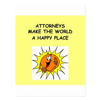 Carte Postale cadeaux et T-shirts de plaisanterie d'avocat