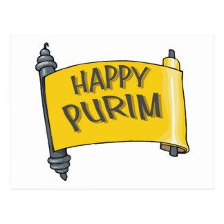 Carte Postale Cadeaux et tee - shirt heureux de Purim pour des