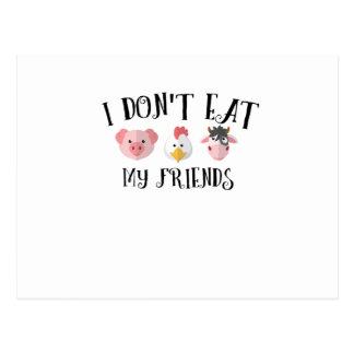 Carte Postale Cadeaux végétaux végétariens végétaliens d'amis