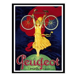 Carte Postale Cadeaux vintages de bicyclette - cycles Peugeot