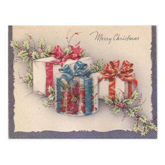 Carte Postale Cadeaux vintages de Noël