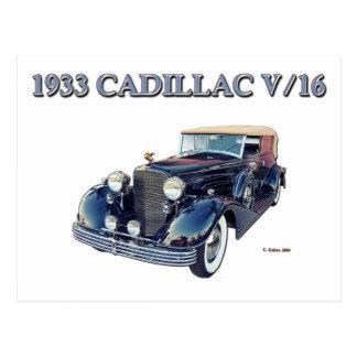 CARTE POSTALE CADILLAC 1933 V/16