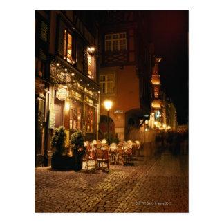 Carte Postale Café à Strasbourg