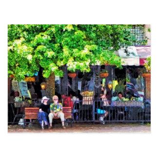 Carte Postale Café extérieur d'Asheville OR