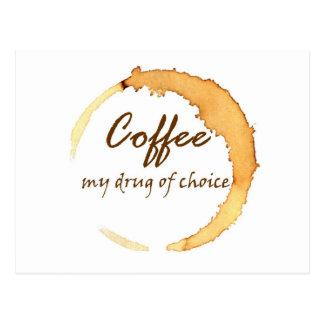 Carte Postale Café - ma drogue de choix
