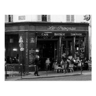 Carte Postale Café noir et blanc dans Montmartre, Paris