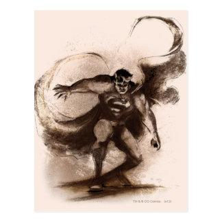Carte Postale Café Superman