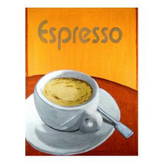 Carte Postale Café vintage de café express