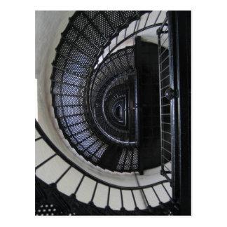 Carte Postale Cage d'escalier de phare d'île de Bodie