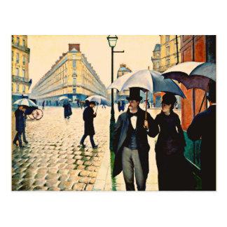 Carte Postale Caillebotte - Paris un jour pluvieux
