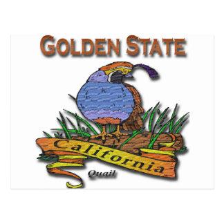 Carte Postale Cailles de Golden State de la Californie
