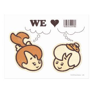 Carte Postale Cailloux et bam bam que nous aimons