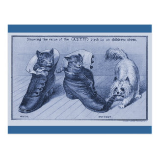 Carte Postale Cairn Terrier tirant la queue de chats