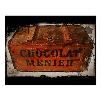 Carte Postale Caisse vintage de chocolat de Menier
